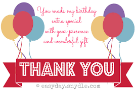 thank you for birthday celebration message ideas baseball thank