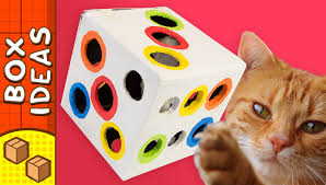 diy cat toy dice craft ideas for kids on box yourself youtube