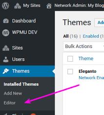 wordpress theme editor gone editor inside appearance missing