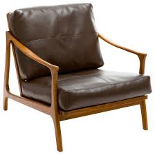 Wooden Accent Chair Cool Wooden Accent Chair With Brown Leather Sofa And Armchair