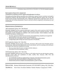 sample administrative assistant resume objective executive