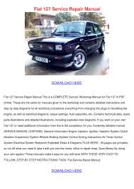 fiat 127 service repair manual by elissadelgado issuu