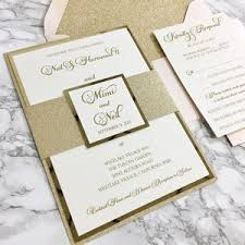 blush and gold wedding invitations sles cz invitations