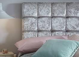lever luxury plush crushed velvet headboard dreams