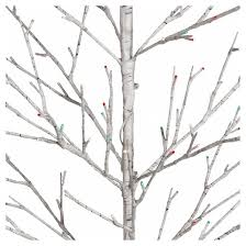 philips 5ft prelit artificial birch twig tree white