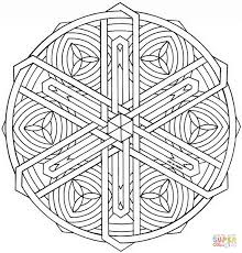 celtic knot mandala coloring page free printable coloring pages