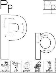 alphabet letter p worksheet standard block font preschool