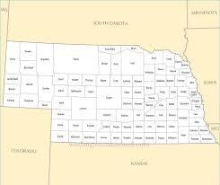 Map Of Counties In Nebraska Best Photos Of Nebraska County Map Nebraska Map With Counties