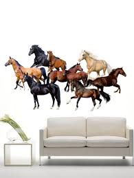 simple style home decoration horse head design wall art sticker horses environmental wall stickers