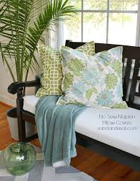 No Sew Slipcover For Sofa Best 25 No Sew Cushions Ideas On Pinterest Easy No Sew Pillow