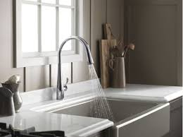 Kohler Gooseneck Kitchen Faucet by Faucet Com K 596 Cp In Polished Chrome By Kohler