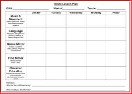 sample music lesson plan template
