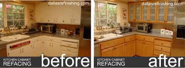 Dallas Cabinet Refinishing Dallas TX  Dallas Refinishing - Kitchen cabinet refacing before and after photos