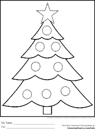 kids christmas tree drawing for coloring pages gobel page images