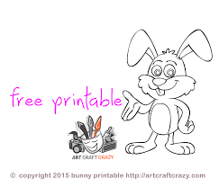 printable rabbit drawing for kids artcraftcrazy com