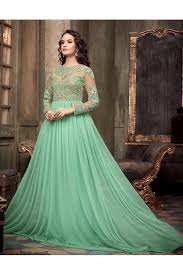 party wear gowns special party wear sea green gown 305