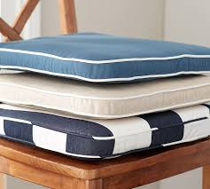 Patio Chair Cushions Sunbrella Pb Classic Sunbrella Dining Chair Cushion Pottery Barn