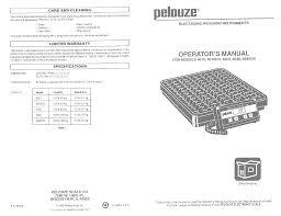 pelouze 4010 scale manual documents