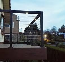 black aluminum cable deck railing vancouver wa traditional