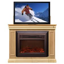 Electric Fireplace Tv by Conestoga Electric Fireplace Tv Lift Cabinet Unfinished