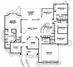 new american floor plans 4 bedroom house plans one story beautiful floor plans aflfpw 1