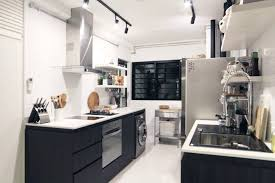Black And White Kitchen Ideas 3 Room Hdb Flat In Tampines Singapore Black And White Kitchen