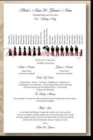 winter wedding programs one sided wedding program template badi deanj