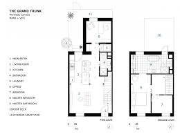 row house floor plans fusion vivacious remodeling of 1880s montreal row house