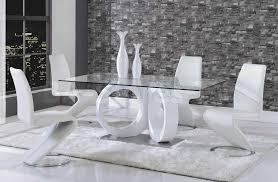 White Leather Dining Room Set White Contemporary Dining Table