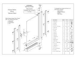 Framed Shower Door Replacement Parts Shower Impressive Shower Door Parts Pictures Design Magnetic