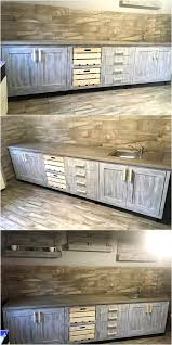 kitchen cabinets from pallet wood vintage style repurposed wood pallets kitchen wood pallet