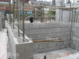 Building A Cinder Block House Concrete Block Wall Construction Stock Photo 172756840 Istock