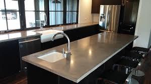 Contemporary Kitchen Faucet Countertops Contemporary Concrete Countertop Kitchen Designs On