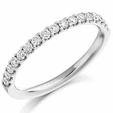 half eternity ring brilliant cut diamond micro claw set half eternity ring