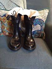 target womens boots with fur patent leather rainboots solid boots for ebay