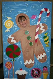 christmas gingerbread man photo op standee insert your face and