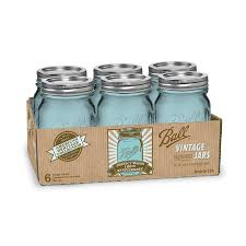 shop ball 6 pack 16 oz glass canning jars with lids at lowes com