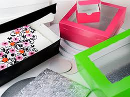 cake boards and boxes