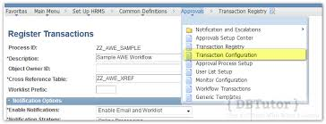 peoplesoft hrms tables list approval workflow engine create a simple awe peoplesoft part 2