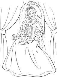 kidscolouringpages orgprint u0026 download princess barbie coloring