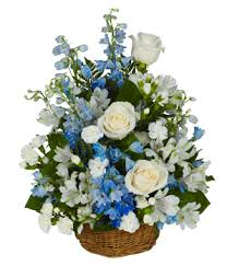 peaceful wishes basket at from you flowers