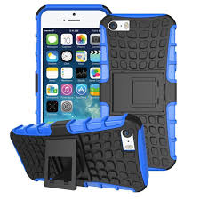 rugged tough case for apple iphone se 5s blue