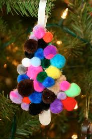 pom pom u0026 craft stick christmas tree material cotton ball