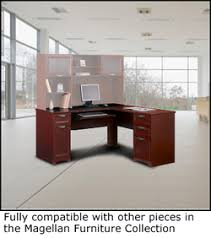 Realspace Magellan Desk 16 Realspace Magellan L Shaped Desk Cherry Contemporary