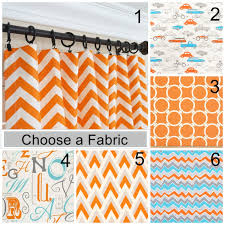 Nursery Girl Curtains by Orange Curtain Panels Orange Aqua Blue Curtains Nursery
