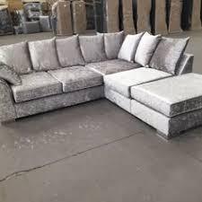 Corner Sofa Velvet Used New Silver Grey Crushed Velvet Corner Sofa In Rm8 Dagenham