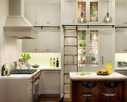 stacked glass front kitchen cabinets design ideas
