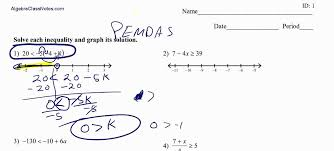 Multi Equations With Variables On Both Sides Worksheet Inequalities With Variables On Both Sides With Worksheet