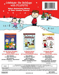 thanksgiving cartoon specials amazon com peanuts holiday anniversary collection bd blu ray
