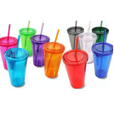 plastic cups with lids wall plastic tumblers with lids straws 16oz cups